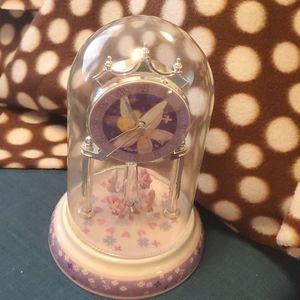 Tinkerbell glass dome anniversary clock